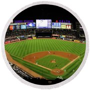 Yankee Stadium 1 Round Beach Towel by Nishanth Gopinathan