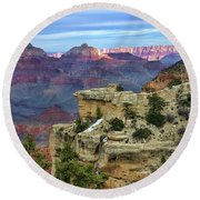 Yavapai Point Sunset Round Beach Towel