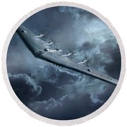 Yb-35 Flying Wing  Round Beach Towel