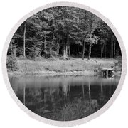 Round Beach Towel featuring the photograph Ye Old Swimming Hole by Rick Morgan