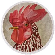 Year Of The Rooster 2017 Round Beach Towel by Maria Urso