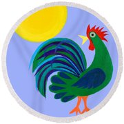 Year Of The Rooster Round Beach Towel