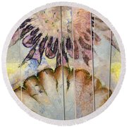 Yearly Distribution Flowers  Id 16165-115956-51241 Round Beach Towel