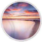Round Beach Towel featuring the photograph Yearning For More by Edward Kreis