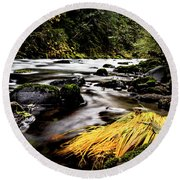 Yello Grass Round Beach Towel