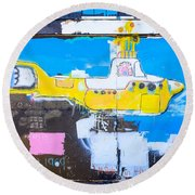 Yello Sub Round Beach Towel