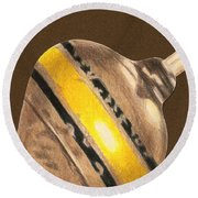 Yellow And Black Top Round Beach Towel