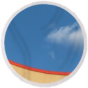 Yellow And Blue - Round Beach Towel