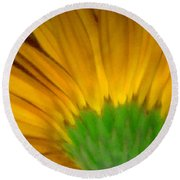 Yellow Round Beach Towel