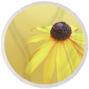 Round Beach Towel featuring the photograph Yellow by Cindy Garber Iverson