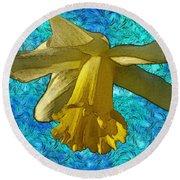Yellow Daffodil 3 Round Beach Towel