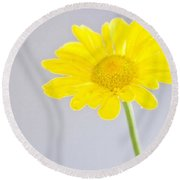 Yellow Drops Round Beach Towel