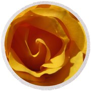 Yellow Gold Swirl 2 - Roses From The Garden Round Beach Towel