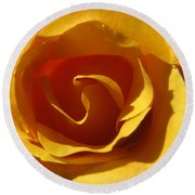 Yellow Gold Swirl Round Beach Towel by Brooks Garten Hauschild