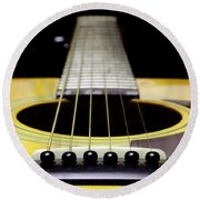 Yellow Guitar 17 Round Beach Towel