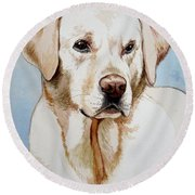 Yellow Lab Round Beach Towel