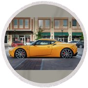 Yellow Lotus Round Beach Towel by Tim Stanley