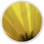 Yellow Mum Petals Round Beach Towel