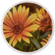 Yellow Petals #g3 Round Beach Towel