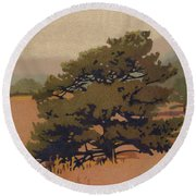 Yellow Pine Round Beach Towel