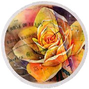 Yellow Rose Of Texas Round Beach Towel