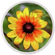 Yellow Tones Round Beach Towel