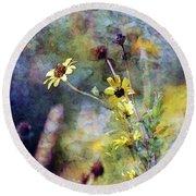 Yellow Wildflowers 3230 Idp_2 Round Beach Towel