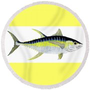 Yellowfin Tuna Round Beach Towel