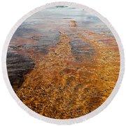 Yellowstone Colors #7 Round Beach Towel