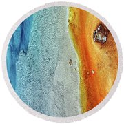 Yellowstone Abstract Round Beach Towel