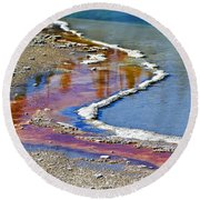 Yellowstone Abstract I Round Beach Towel