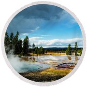 Yellowstone Colors #1 Round Beach Towel