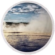 Yellowstone Colors #10 Round Beach Towel