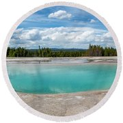 Round Beach Towel featuring the photograph Yellowstone Colors #11 by Scott Read