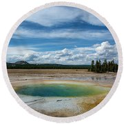 Round Beach Towel featuring the photograph Yellowstone Colors #12 by Scott Read