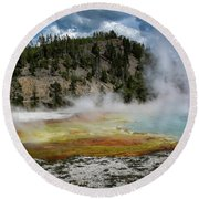 Round Beach Towel featuring the photograph Yellowstone Colors #13 by Scott Read