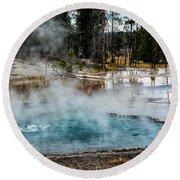 Yellowstone Colors #2 Round Beach Towel
