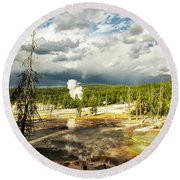 Yellowstone Colors #3 Round Beach Towel