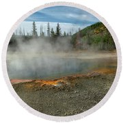 Yellowstone Colors #5 Round Beach Towel