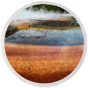 Yellowstone Colors #8 Round Beach Towel