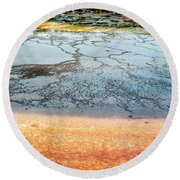 Yellowstone Colors #9 Round Beach Towel