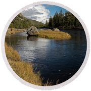 Yellowstone Nat'l Park Madison River Round Beach Towel