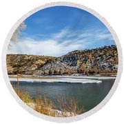 Yellowstone River Round Beach Towel
