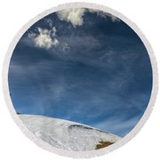 Round Beach Towel featuring the photograph Yellowstone Sky by John M Bailey