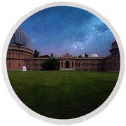 Round Beach Towel featuring the photograph Yerkes Observatory Williams Bay by Tom Jelen