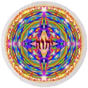Yhwh Mandala 3 18 17 Round Beach Towel