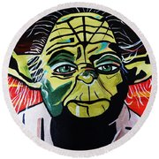 Yoda  Come Home Round Beach Towel by Nora Shepley