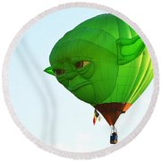 Round Beach Towel featuring the photograph Yoda In The Sky by AJ Schibig