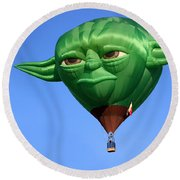 Yoda In The Sky Round Beach Towel