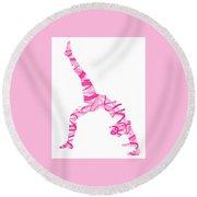 Yoga Pose Fine Art One-legged Round Beach Towel